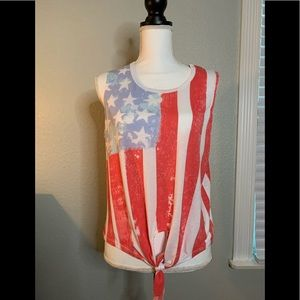 American Flag Sleeveless T-shirt